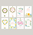 floral cards botanical for placard vector image vector image