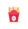 fries fast food food usa flat color icon icon vector image vector image