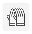 glove gardening icon vector image