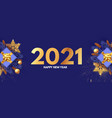 happy new 2021 year design template with gifts vector image vector image