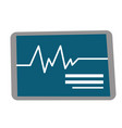 heart rate monitor cartoon vector image