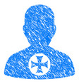 hero medal grunge icon vector image vector image