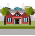 house in the neighborhood scene vector image