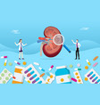 human open kidney medicine health pills drug vector image vector image