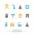 Icons set Cleaning service vector image