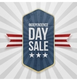 Independence Day Sale festive Badge vector image vector image