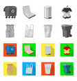 isolated object of dump and sort logo collection vector image