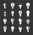 lamp logo icons set grey vector image vector image