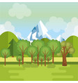 landscape with mountains scene vector image