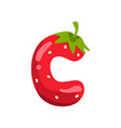 letter c of english alphabet made from ripe fresh vector image
