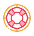 lifebuoy circle icon outline vector image vector image
