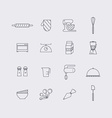 line icons set in flat design elements cooking vector image vector image