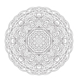 Mandala Vintage hand drawn decorative vector image