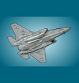 modern american jet fighter aircraft vector image