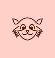 monoline civet cat logo vector image vector image