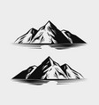 mountain range or rock nature vector image vector image