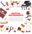 musical instruments frame for live music concert vector image vector image