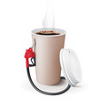 paper cup coffee with dispenser metaphor vector image vector image