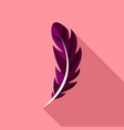 pen feather icon flat style vector image vector image