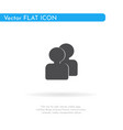 people icon for web business finance and vector image vector image
