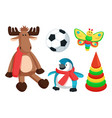 Playthings for kids from santa