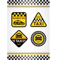 Racing Background vertical and Taxi - set retro vector image vector image