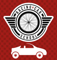 Racing School design vector image vector image