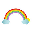 rainbow on blank background vector image vector image