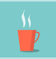 red tea cup vector image vector image