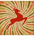 retro christmas reindeer background vector image vector image