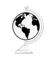 school world globe vector image vector image