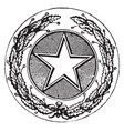 seal of the state of texas 1904 vintage vector image vector image