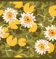 seamless carps and lotus vector image vector image