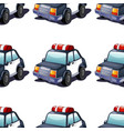 seamless pattern tile cartoon with police car vector image