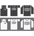 Singlet T-shirt and Long-sleeved shirt template vector image