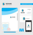 smartphone business logo file cover visiting card vector image