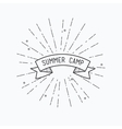 Summer camp Inspirational vector image