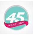 Template Logo 45 Anniversary vector image vector image