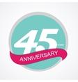 Template Logo 45 Anniversary vector image vector image