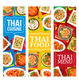 thailand food restaurant dishes posters vector image vector image