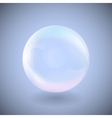 transparent sphere on a blue background vector image