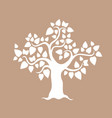 tree with leaves hearts vector image