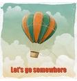 vintage hot air balloon in sky vector image