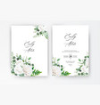 wedding invite invitation save date card floral vector image vector image