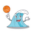 with basketball wave character cartoon style vector image
