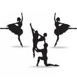 Balerinas Dancers silhouette vector image