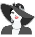 Beautiful Elegant Lady portrait vector image