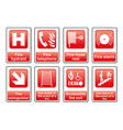 Fire Equipment signs vector image