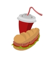 Sandwich and soda vector image