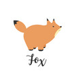 a fox greeting card with vector image vector image